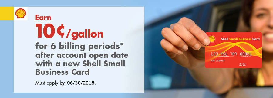 Apply today for the shell small business credit card earn 10gallon for 6 billing periods after account open date with a colourmoves